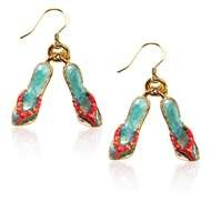 Flip Flops Charm Earrings in Gold