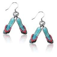 Flip Flops Charm Earrings in Silver