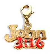 John 3:16 Charm Dangle in Gold