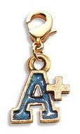 A+ Charm Dangle in Gold