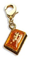 Holy Bible Charm Dangle in Gold