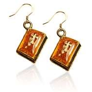 Holy Bible Charm Earrings in Gold