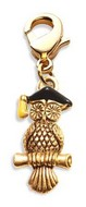 Owl Charm Dangle in Gold
