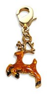 Reindeer Charm Dangle in Gold
