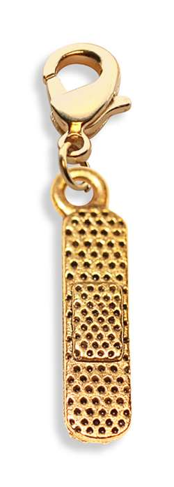 Band Aid Charm Dangle in Gold