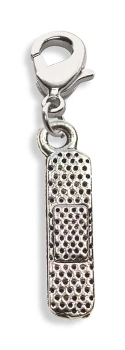 Band Aid Charm Dangle in Silver
