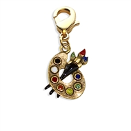 Artist Palette Charm Dangle In Gold
