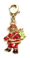Santa Claus Charm Dangle in Gold