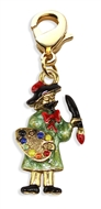 Artist Charm Dangle In Gold