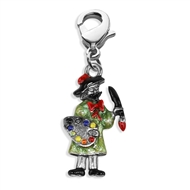 Artist Charm Dangle In Silver