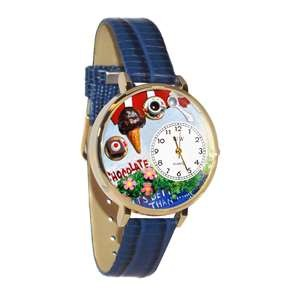 Chocolate Lover Watch in Gold (Large)