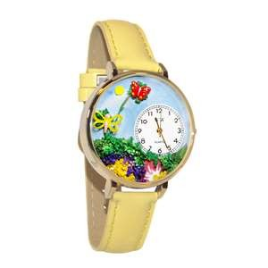 Butterflies Watch in Gold (Large)
