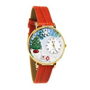 Christmas Tree Watch in Gold (Large)
