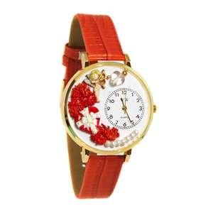 Valentine's Day Watch (Red) in Gold (Large)