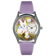 Easter Bunny Watch Small Silver Style