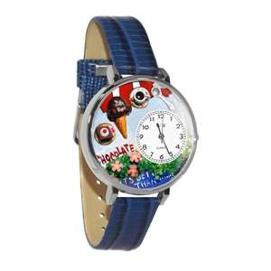 Chocolate Lover Watch in Silver (Large)