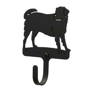 Dog Black Metal Wall Hook -Extra Small