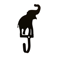 Elephant Black Metal Wall Hook -Small