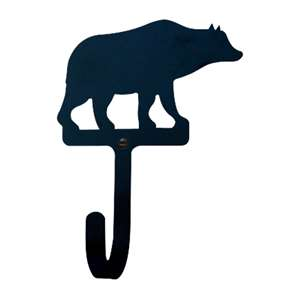 Bear Black Metal Wall Hook -Large