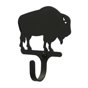 Buffalo Black Metal Wall Hook -Small