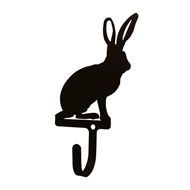 Jack Rabbit Black Metal Wall Hook -Small