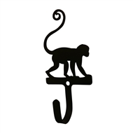 Monkey Black Metal Wall Hook -Small