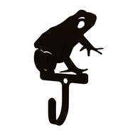 Frog Black Metal Wall Hook -Small