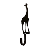 Giraffe Black Metal Wall Hook -Small