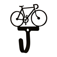 Bicycle Black Metal Wall Hook -Small