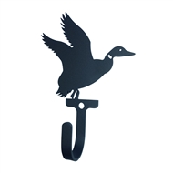 Flapping Duck Black Metal Wall Hook -Small