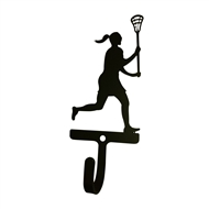 Womans/Girls Lacrosse Black Metal Wall Hook -Small