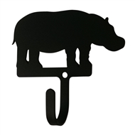 Hippo Black Metal Wall Hook -Small