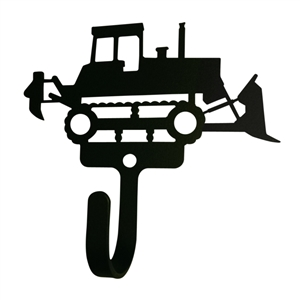 Bulldozer Black Metal Wall Hook -Small