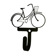 Womans/Girls Bicycle Black Metal Wall Hook -Small