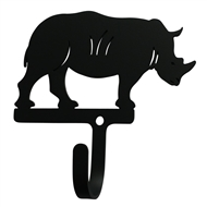 Rhino Black Metal Wall Hook -Small