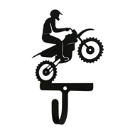 Dirt Bike Black Metal Wall Hook -Small