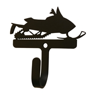 Snowmobile Black Metal Wall Hook -Small
