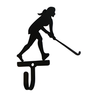 Field Hockey - Woman's / Girl's Black Metal Wall Hook -Small
