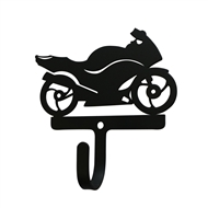Motorcycle Street Style Black Metal Wall Hook -Small