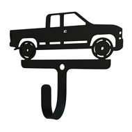 Pickup Truck Black Metal Wall Hook -Small