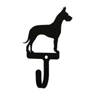 Great Dane Black Metal Wall Hook -Small