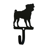Pug Black Metal Wall Hook -Small