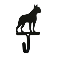 Boston Terrier Black Metal Wall Hook -Small