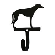 Greyhound Black Metal Wall Hook -Small