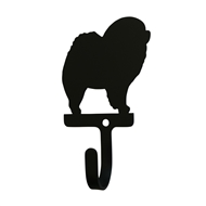 Chow Chow Dog Black Metal Wall Hook -Small