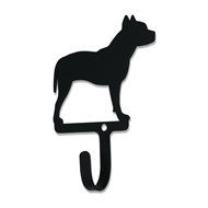 Pit Bull Dog Black Metal Wall Hook -Small