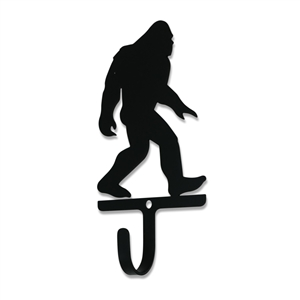 BIG FOOT Man Black Metal Wall Hook -Small