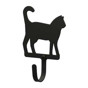 Cat Black Metal Wall Hook -Small