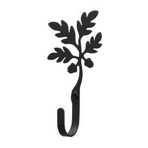 Acorn Black Metal Wall Hook -Extra Small