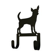 Chihuahua Black Metal Leash and Collar 2 Hook Holder